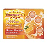 Emergen-C Super Orange, 1000mg Vitamin C / Electrolytes / B Vitamins, 30 Packets/Sachets