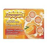 Emergen-C Super Orange, 1000mg Vitamin C / Electrolytes / B Vitamins, 30 Packets/Sachets