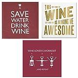 Wine Lovers Humorous Napkin Bundle, 3 Items
