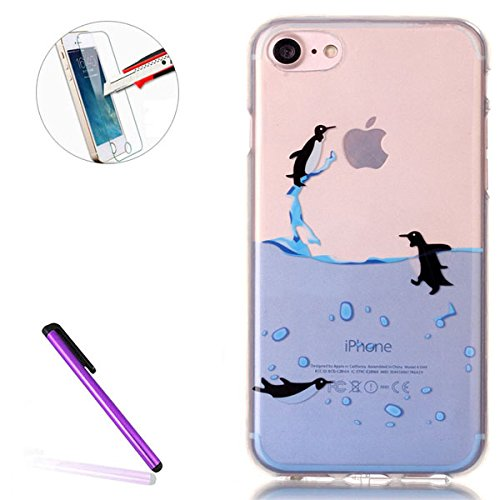 iPhone 7 Case Transparent Glitzer Silikon Case,iPhone 7 Glitzer Transparent Hülle,iPhone 7 Clear TPU Case Hülle Cristall Silikon Gel Schutzhülle Etui für iPhone 7 4.7 Zoll,EMAXELERS iPhone 7 (4.7 Zoll Hearts 9