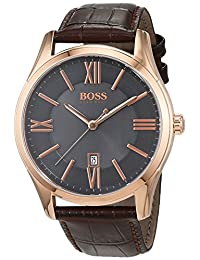 Hugo Boss Men's 1513387 Rose Leather Quartz Watch