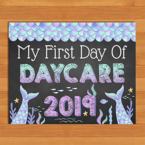Mermaid First Day of Daycare Sign Chalkboard Back to School Sign Class of 2019 Sign Mermaid Girls 1st Day Sign (Best Tobacco E Liquid 2019)