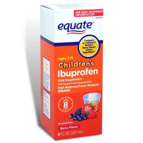 (Equate Children's Ibuprofen Pain Reliever/Fever Reducer, Oral Suspension, Berry Flavor 8 Oz)