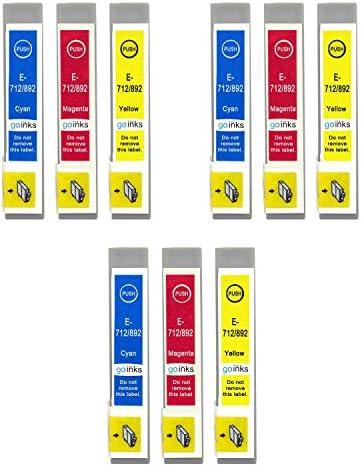 3 Gb Inks Tintenpatronen Ersetzt Epson T0715 C M Y Kompatibel Kein Oem Für Epson Stylus Drucker 9 Tinten Bürobedarf Schreibwaren