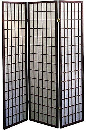 - Legacy Decor 3-Panel Shoji Screen Room Divider, Espresso Finish 71