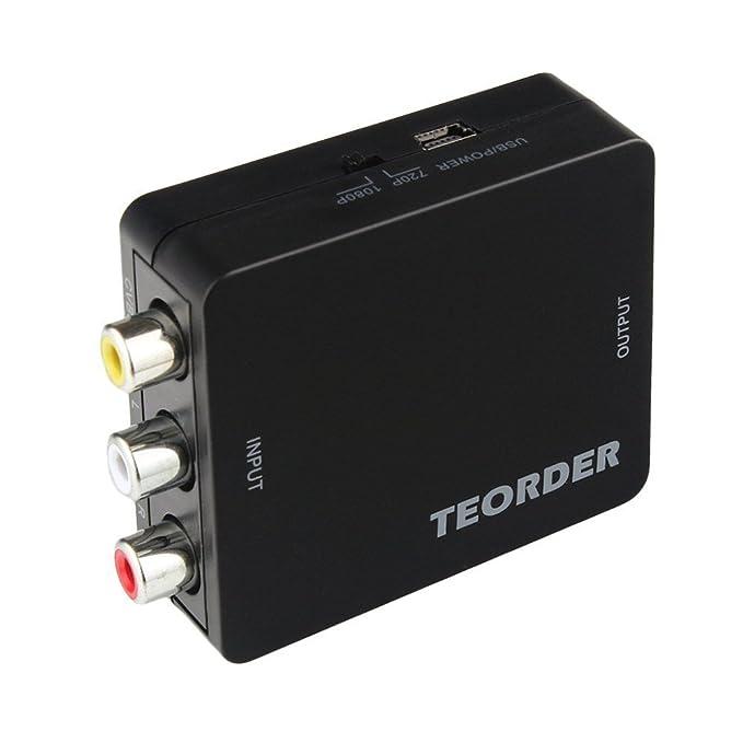14 opinioni per RCA/AV/CVBS composito a HDMI adattatore convertitore da VGA a HDMI, HDMI a