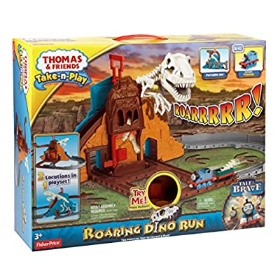Fisher-Price Thomas & Friends Take-n-Play, Roaring Dino Run: Toys & Games