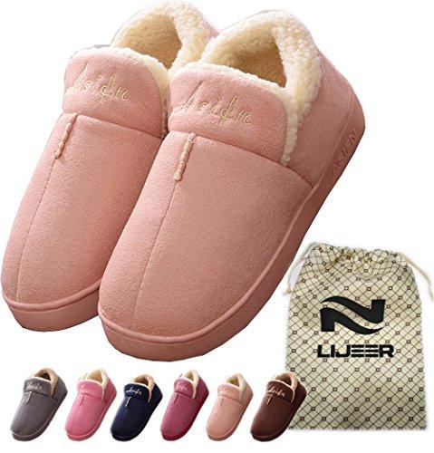 Indoor Home Cotton Slippers Winter Cozy Memory Foam Warm Snti Skid Wear Resistant Wool Drag Lijeer