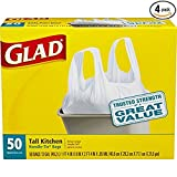 Glad Tall Handle-Tie Kitchen Trash Bags - 13 Gallon - 50 Count - 4 Pack (Packaging May Vary) (3 pack(200 Count))