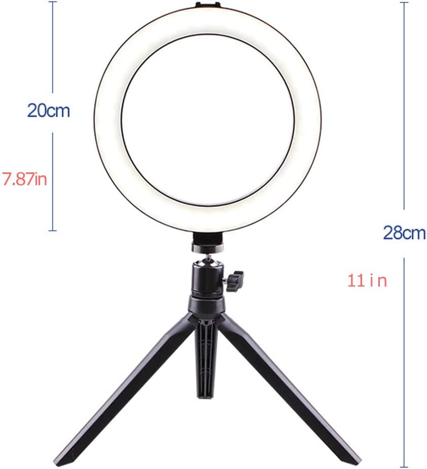 Ball Head LED Ring Light kit externally dimmable Hose Including: 5W self-Timer lamp Ring Light Light Stand with self-Timer Ring Light Lighting kit Mobile Phone Stand