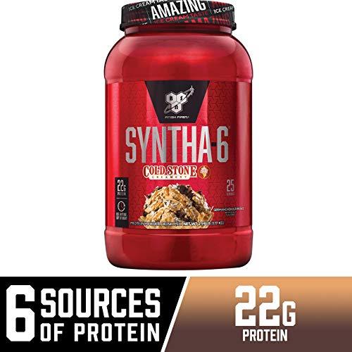 BSN Syntha-6 Whey Protein Powder, Cold Stone Creamery- Germanchökolätekäke Flavor, Micellar Casein, Milk Protein Isolate Powder, 25 Servings