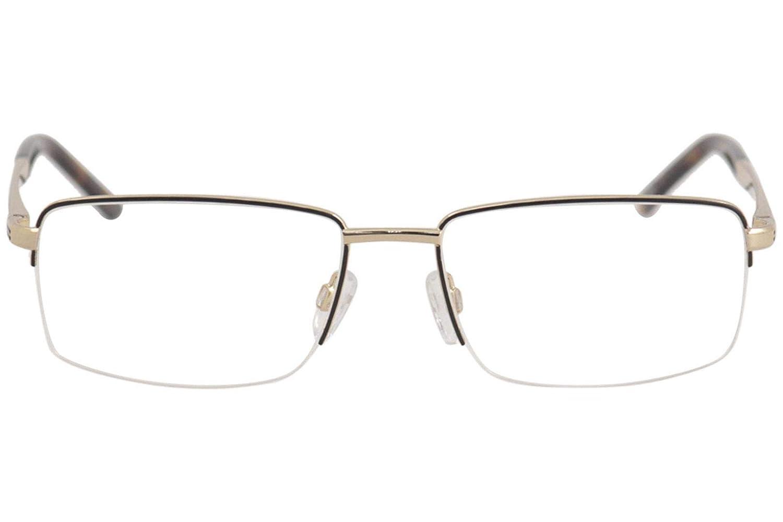 Jaguar Mens Eyeglasses 33151 600 Brown//Gold Half Rim Optical Frame 58mm
