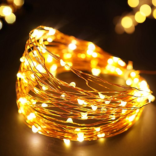 Gold Led Christmas Tree Lights in US - 7