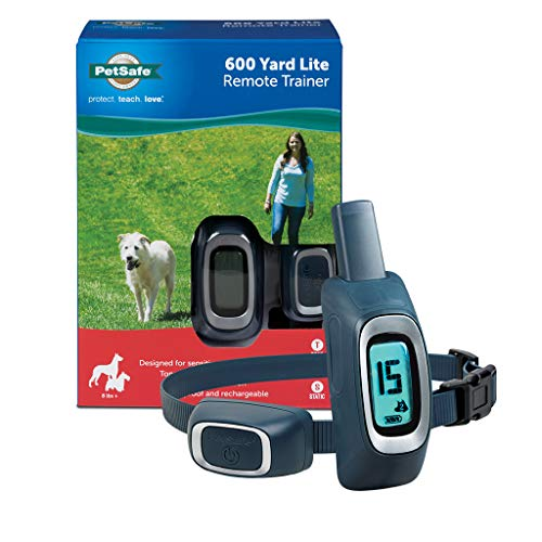 PetSafe 600 Yard Lite Remote Trainer, Rechargeable, Waterproof, Tone / Vibration / 15 Levels of Lighter Static Stimulation for Sensitive or Small Dogs 8 lb. and Up