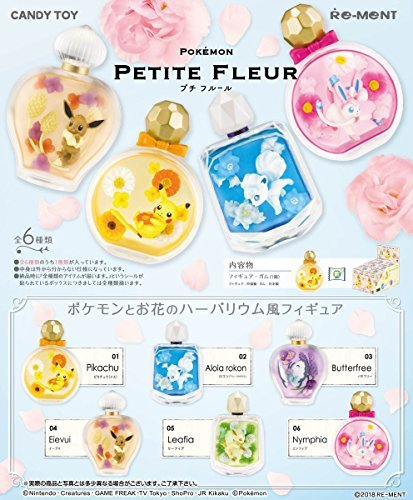 Pokemon - Petite Fleur 6Pack Box (Candy Toy) with Re-Ment