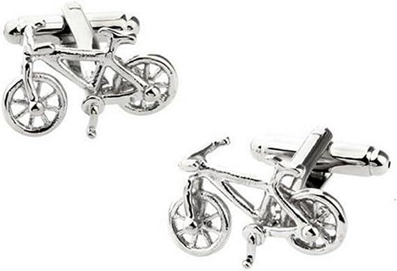 DaoRier Bicicleta Gemelos de Metal Camisa de Hombre Accesorios de ...