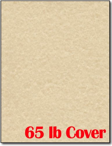 - 65lb Brown Parchment Cardstock for Inkjet & Laser Printers (8 1/2