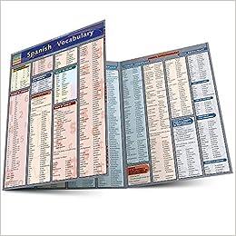 Amazon com: Spanish Vocabulary (Quickstudy: Academic