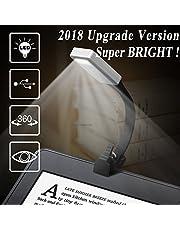 Leselampe, Buchlampen, Leselicht, 50 Lumen, wiederaufladbare LED Leselampe mit Clip und 3-Stufen-Helligkeit, tragbar und flexibel für Amazon Kindle/eBook Reader/Buch/iPad etc.