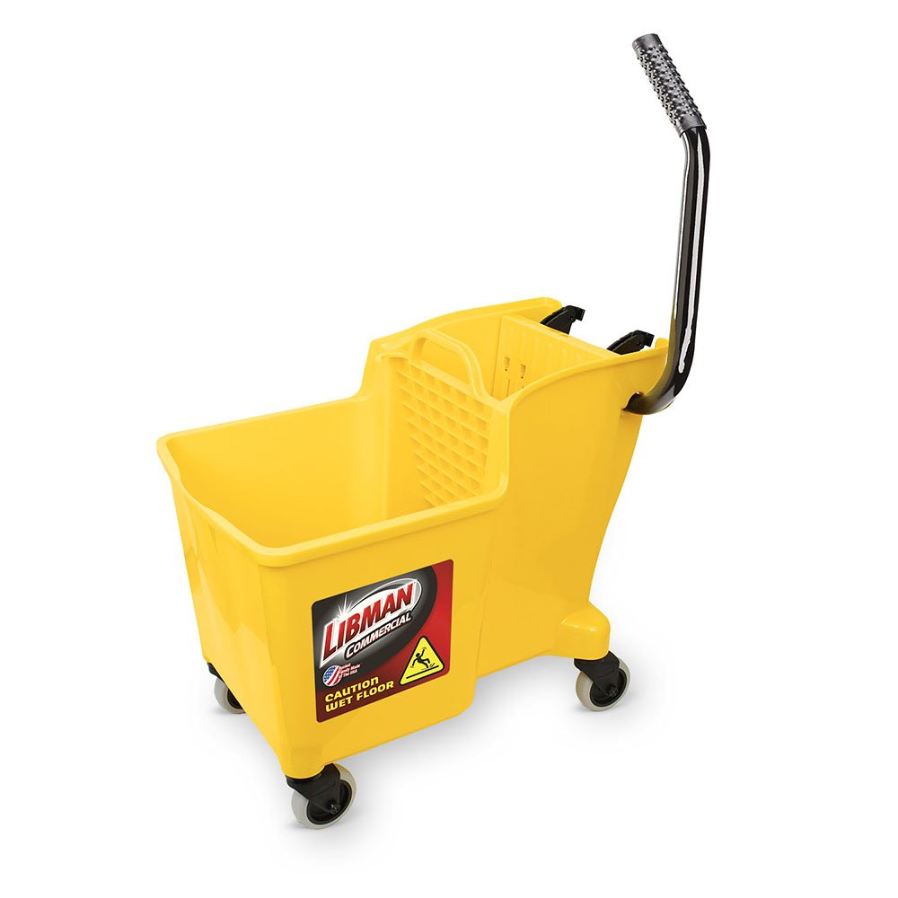 Libman Commercial 1095 One-Piece Bucket and Wringer, Polypropylene, Yellow