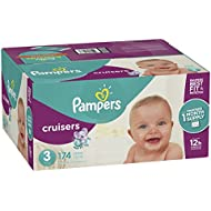 Pampers Cruisers Disposable Diapers, Size 3,174 Count