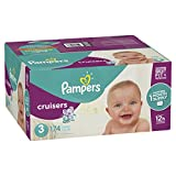 Pampers Cruisers Disposable Diapers, Size 3,174 Count, ONE MONTH SUPPLY
