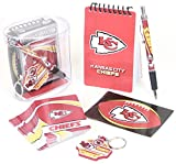 Kansa City Chiefs Gift Box Set, Includes Playing Cards, memo pad, Pen, Key Ring, and Decal.
