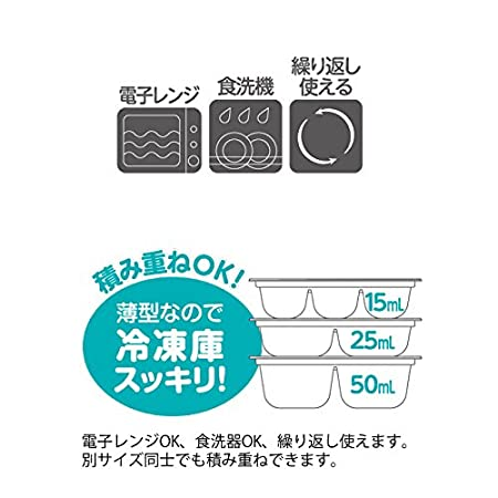 Richell Baby Food Freezing Block Tray 50ml 6block 2 Pieces Baby Amazon Com