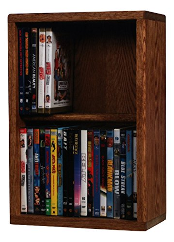 Wood Shed The 215-12 U Solid Oak DVD Storage Cabinet, Unfinished by Wood Shed