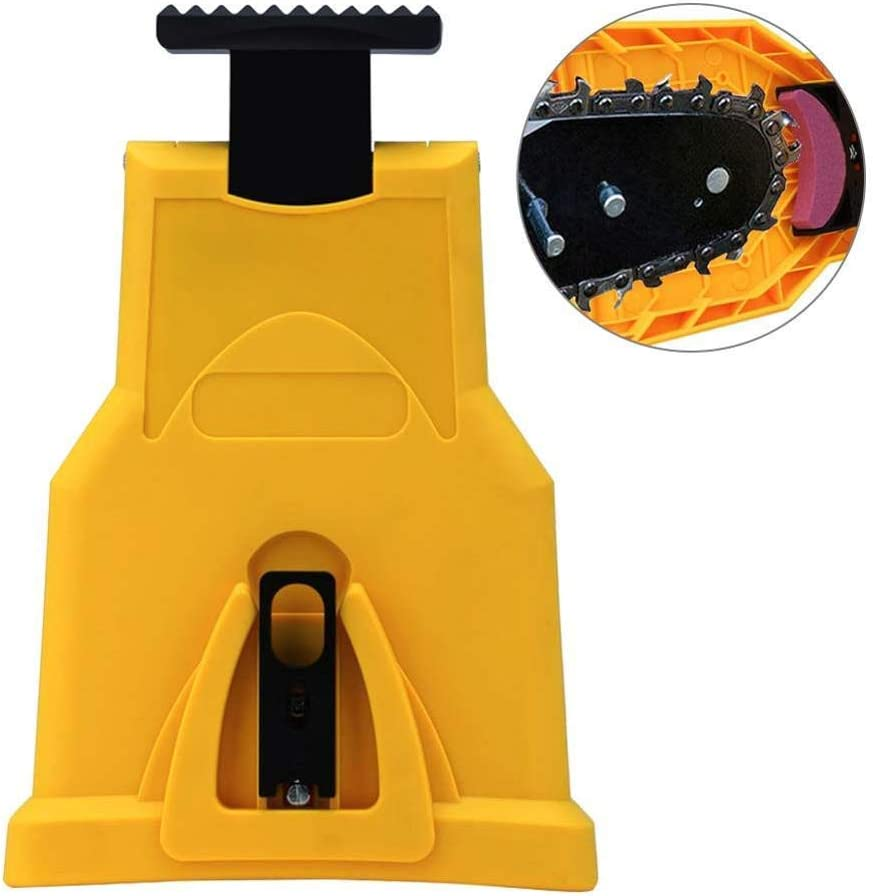 Sacapuntas para motosierra, afilador universal para motosierra Trabajo de afilador de dientes para motosierra, apto para barra de motosierra con 2 agujeros para 14/16/18/20 pulgadas, portátil y seguro