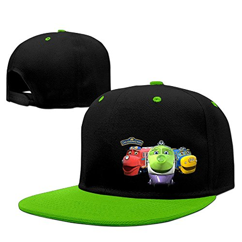 chuggington-unisex-100-cotton-kellygreen-adjustable-snapback-trucker-hat-one-size