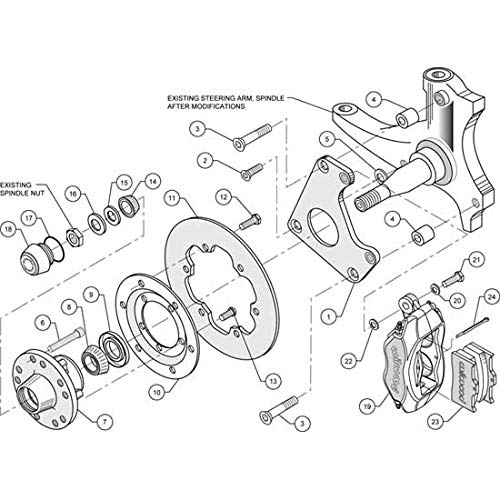 Amazon Com Wilwood 1401033bd Brake Rotor Kit Automotive