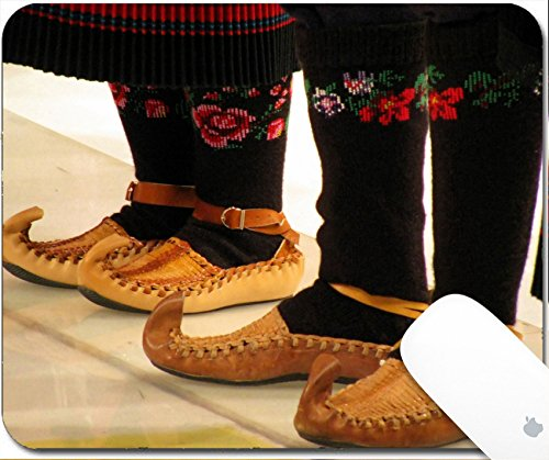 Luxlady Gaming Mousepad dancers in traditional serbian dress 9.25in X 7.25in IMAGE: 3128201 Dancer Footwear