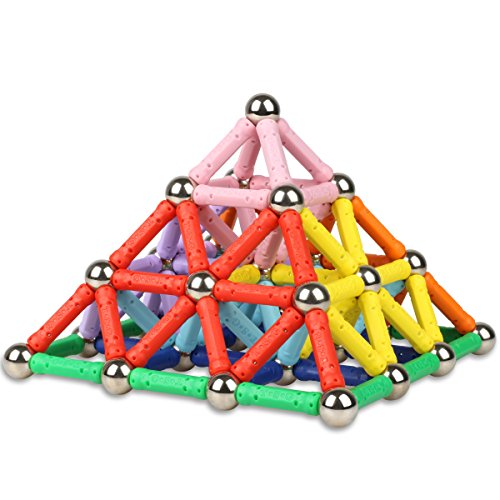 magnetic-sticks-toys-set-3d-magnet-building-stacking-toy-144-pieces-sticks-and-balls-construction-ki