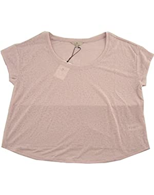7 For All Mankind Women's Sheer Relaxed Crew Tee
