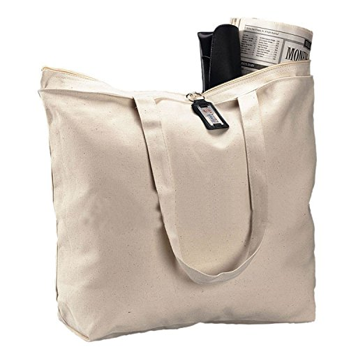 Reusable 12oz. Large Durable Canvas Blank Tote Bags Bulk - G