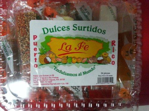 Assortment Sweets of Puerto Rico (Surtido De Dulces Tipicos De Puerto Rico) 24 Pieces (1 Oz Each/piece) By Fabrica De Dulces La Fe by La Fe