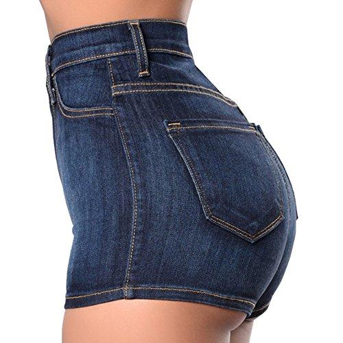 con Pantaloncini Donna Blu Basic Scuro Risvolti zgWAZ6W