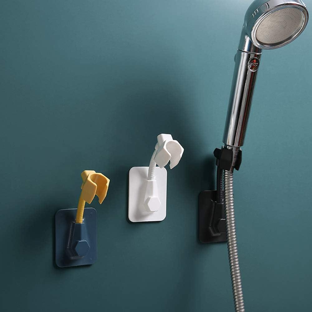 sin perforaciones /ángulo ajustable Soporte de ducha para el hogar//ba/ño//hotel ventosa de vac/ío cabezal de ducha accesorio montado en la pared