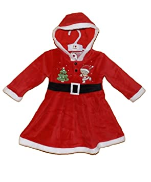 a54ab3dbc Baby Girls Miss Santa Dress Up Christmas Outfit Age 12-18 Months:  Amazon.co.uk: Toys & Games