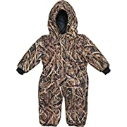 TrailCrest Mossy Oak Camo Infant - Toddler Baby Boy Insulated & Waterproof Snow Suit, 3-6 Months, Shadow Grass