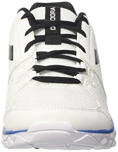 Diadora Hawk 7, Zapatos para Correr para Hombre Blanco (Bianco/azzurro/nero)