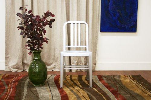 Baxton Studio Modern Café Chair in Brushed Aluminum