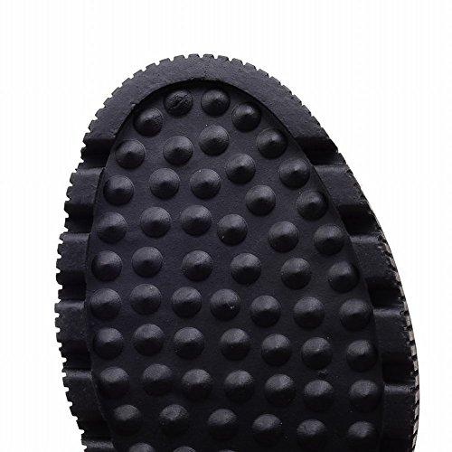 Mee Shoes Damen warm gefüttert Nieten hidden heel Ankle Boots Schwarz