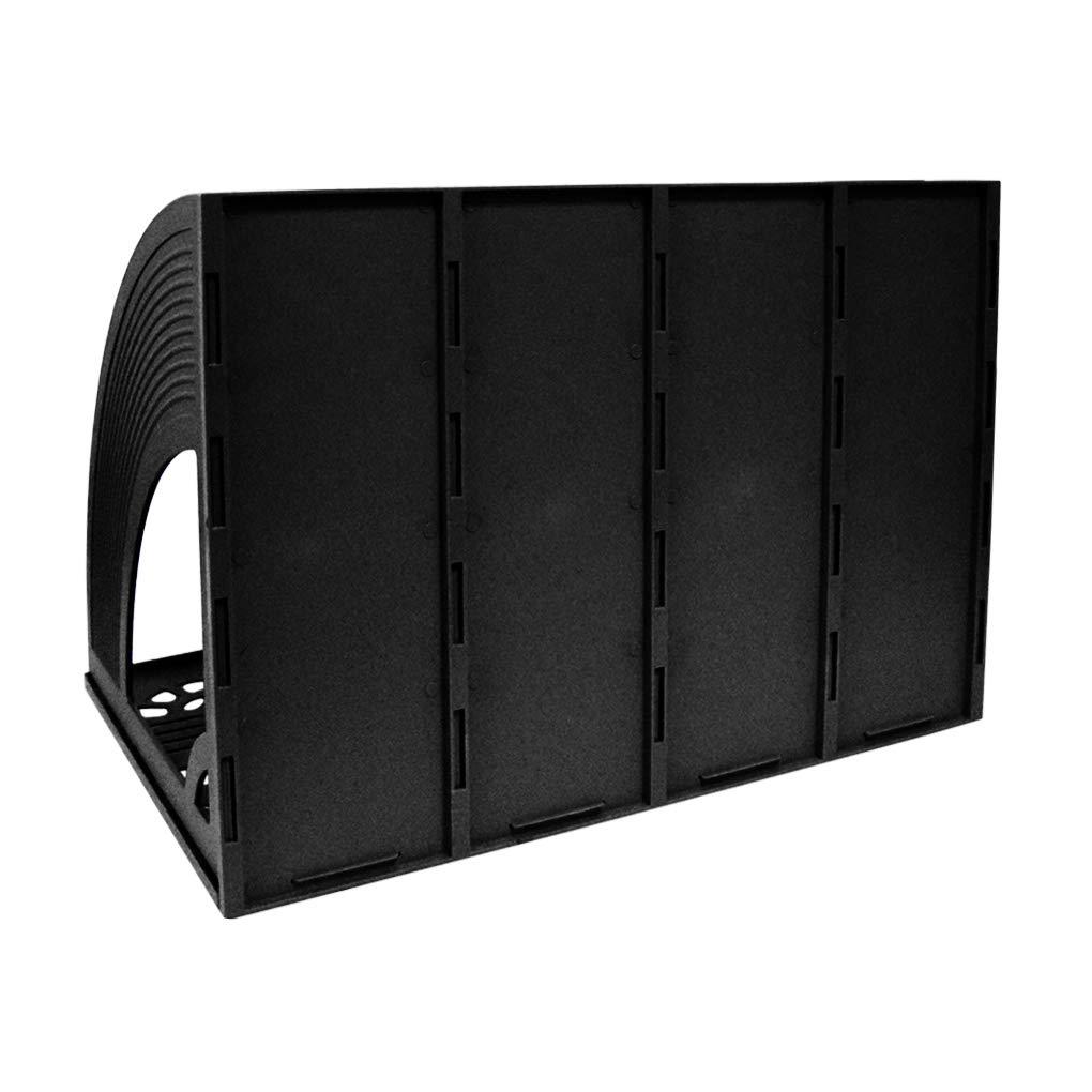 Organizzatore da tavolo,SAYEEC Robusto Desktop 4 Sezione Rivista Supporti di plastica File divisori Gabinetto di documenti cremagliera Conservazione Organizzatore