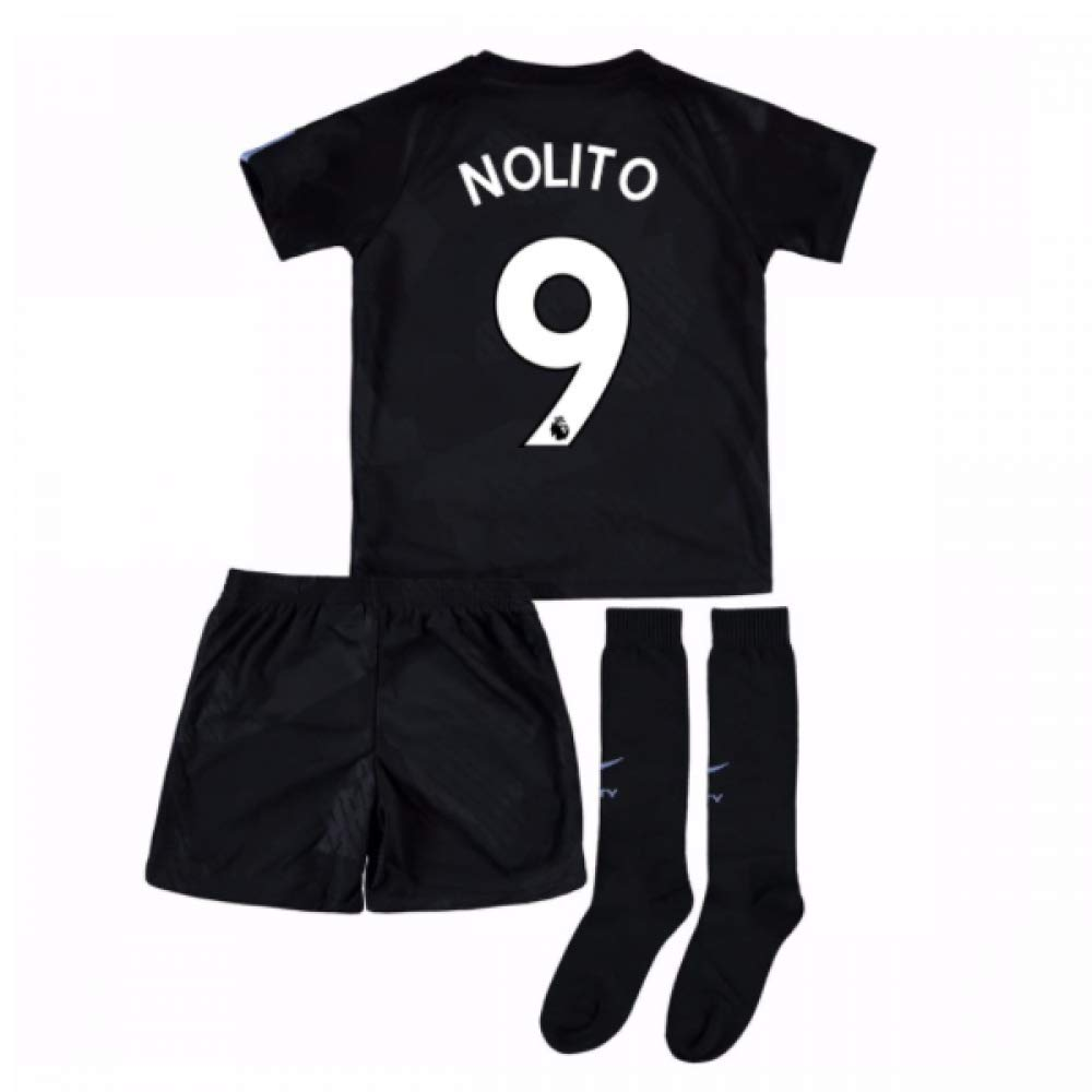 UKSoccershop 2017-18 Man City Third Mini Kit (Nolito 9)