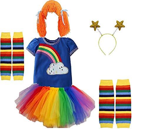 Chunks of Charm Rainbow Bright Costume Tutu Skirt from (Skirt Sz 8)