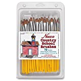 Nasco 72 Piece Country School Detail Brights Brush Set