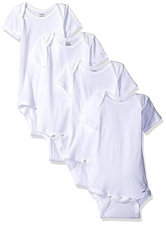 e249046f4208 Amazon.com  4 Pk. Gerber Short Sleeve Onesie Size 3t ~ Solid White ...