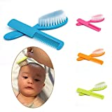 2PCs Baby Safety Soft Gentle Hair Brush Infant Comb Grooming Shower Design Pack Tool